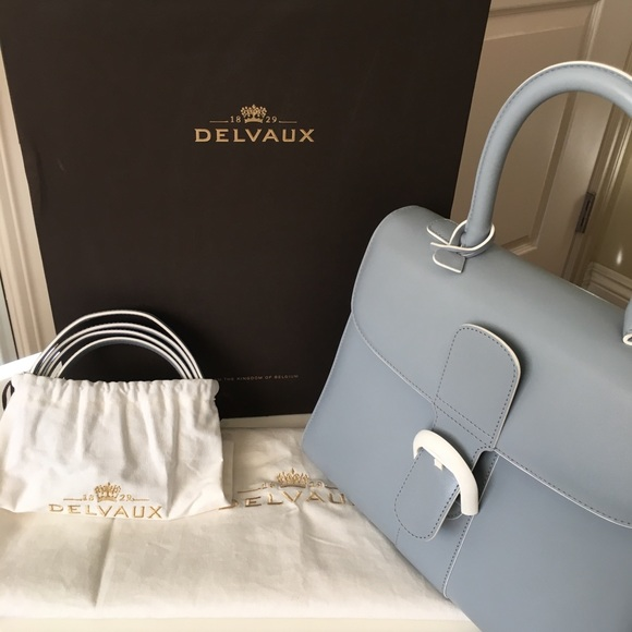 63fdc53eaf delvaux Bags | Brilliant Mm Icy Blue 100 Authentic | Poshmark